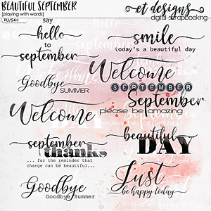 Beautiful September Playing with Words