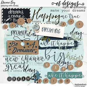 Dream Big Playing with Words by et designs