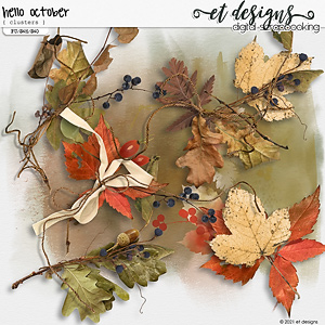 Hello October Clusters by et designs