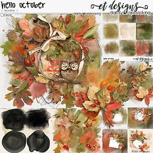 Hello October Bundle by et designs