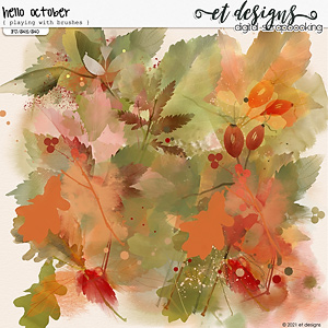 Hello October Playing with Brushes by et designs
