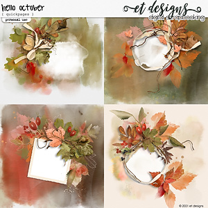 Hello October Quickpages by et designs
