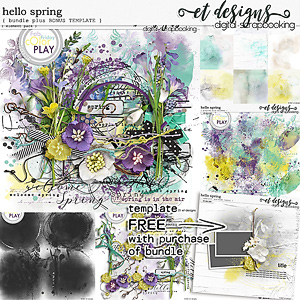 Hello Spring Bundle plus *BONUS* FREE Template
