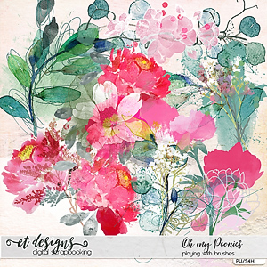 Oh my Peonies Playing with Brushes