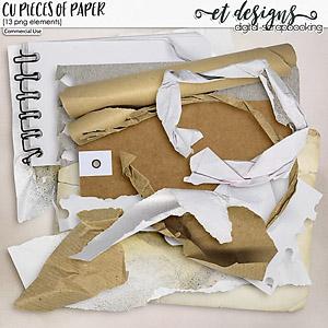 CU Pieces of Paper