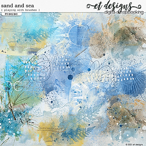 Sand and Sea Playing with Brushes