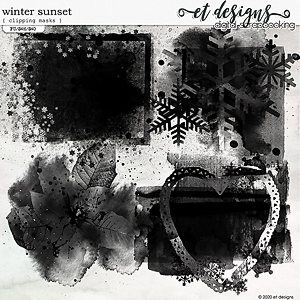 Winter Sunset Clipping Masks
