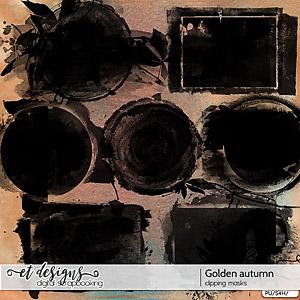 Golden Autumn Clipping Masks