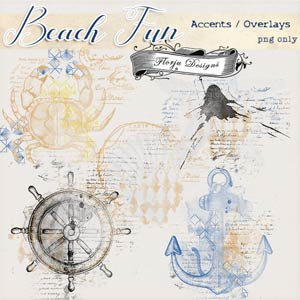 Beach Fun [ Accents PU ] by Florju Designs