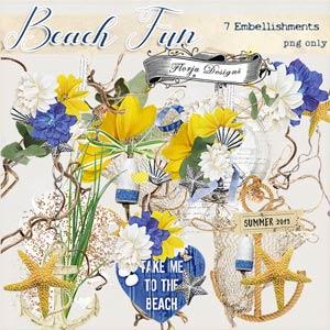 Beach Fun [ Embellishments PU ] by Florju Designs