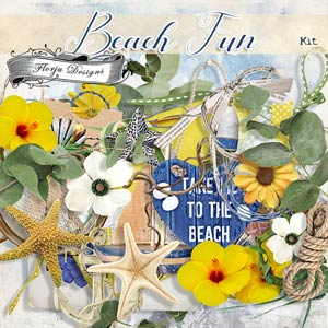 Beach Fun [ Kit PU ] by Florju Designs
