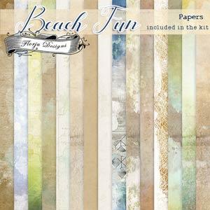 Beach Fun [ Papers PU ] by Florju Designs