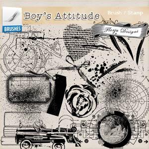 Boys Attitude { Brush/Stamp PU } by Florju Designs