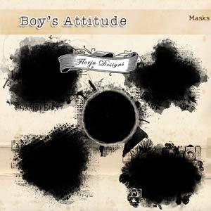 Boys Attitude { Mask PU } by Florju Designs