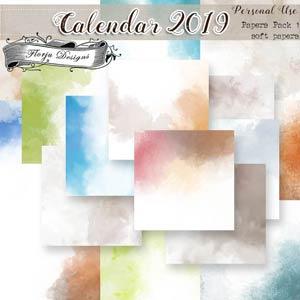 Calendar 2019 { DIY Papers pack 1 PU } by Florju Designs