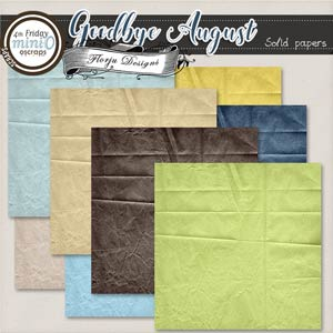 Goodbye August { Solid papers PU } by Florju Designs