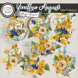 Goodbye August { Embellishments PU } by Florju Designs