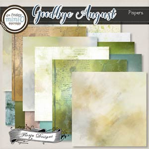 Goodbye August { Pack Mixed Papers PU } by Florju Designs