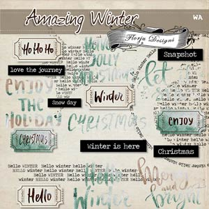 Amazing Winter { Word Art PU } by Florju Designs