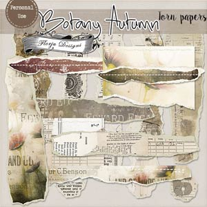 Botany Autumn { Torn papers PU } by Florju Designs
