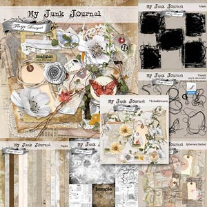 My Junk Journal [ Bundle PU ] by Florju Designs