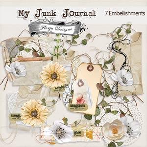 My Junk Journal [ Embellishments PU ] by Florju Designs