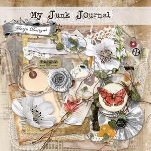 My Junk Journal [ Kit PU ] by Florju Designs