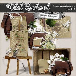 Old School  { Embellishments Pack 2 PU } by Florju designs