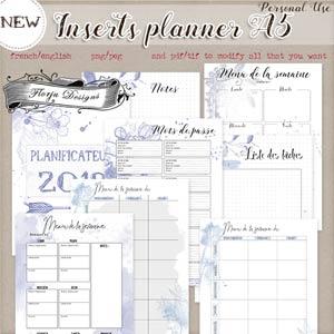 Planner Addict A5 { Inserts PU } by Florju Designs
