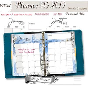 Planner Addict A5 { Month 2 pages PU } by Florju Designs