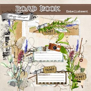 Road Book [ Embellishments PU ] by Florju Designs