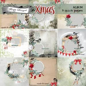 Xmas Album PU by Florju Designs