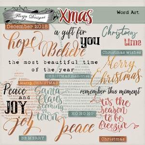 Xmas English Word art PU by Florju Designs