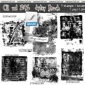 CU vol 296 Artsy Stamp { Florju Designs }