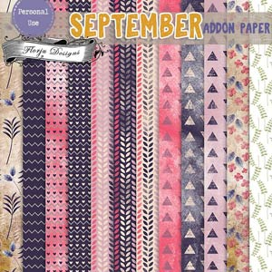 September { Addon Papers PU } by Florju Designs