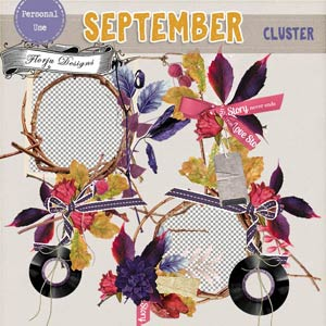 September { Clusterframes PU } by Florju Designs