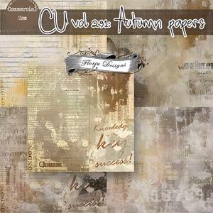 CU vol 291 Autumn Papers { Florju Designs }