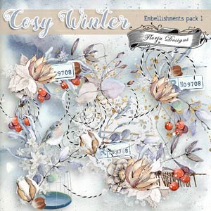 Cosy Winter { Embellishment Pack 1 PU } by Florju Designs