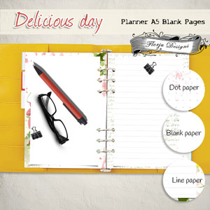 Planner Delicious Day Page by Florju Designs