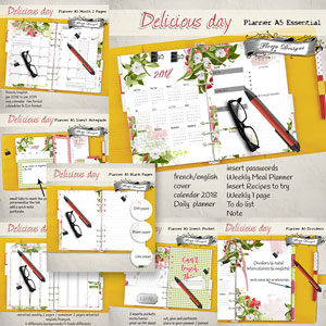 Planner Delicious Day Bundle by Florju Designs