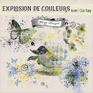 Explosion De Couleurs { Accents PU } by Florju Designs