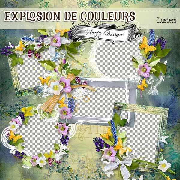 Explosion De Couleurs { Clusters PU } by Florju Designs