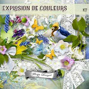 Explosion De Couleurs { Kit PU } by Florju Designs