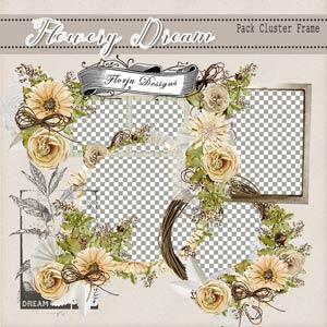 Flowery Dream { Clusterframe PU } by Florju Designs