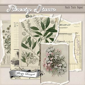 Flowery Dream { Torn Papers PU } by Florju Designs