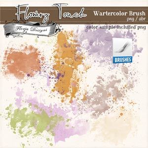 Flowery Touch [ Watercolor Brush PU ] by Florju Designs