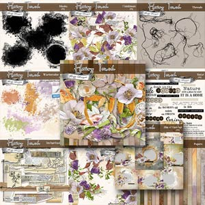 Flowery Touch [ Bundle PU ] by Florju Designs