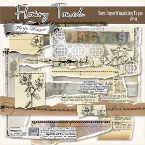 Flowery Touch [ Torn Papers PU ] by Florju Designs