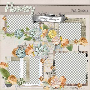 Flowery { Clusters PU } by Florju Designs