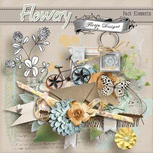 Flowery { Pack Elements PU } by Florju Designs